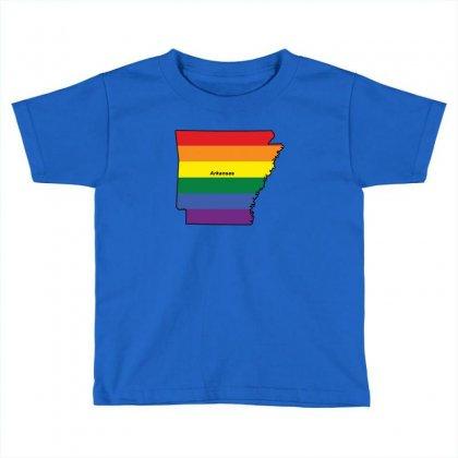 Arkansas Rainbow Flag Toddler T-shirt Designed By Killakam