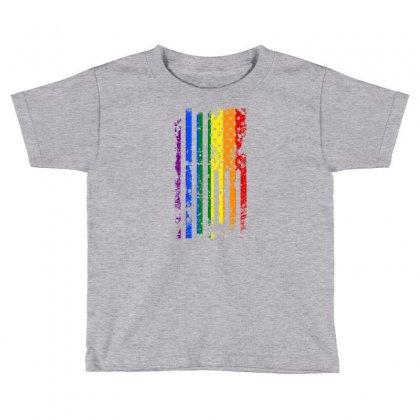 Rainbow Usa Flag Toddler T-shirt Designed By Killakam