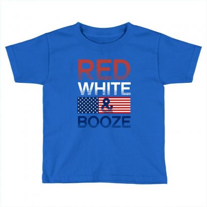 Red White And Booze Toddler T-shirt Designed By Rardesign