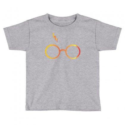 Harry Potter Lightning Glasses Toddler T-shirt Designed By Designbysebastian
