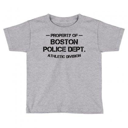 Property Of Boston Police Dept. Athletic Division Toddler T-shirt Designed By Designbysebastian