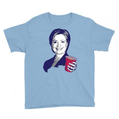 Hillary Clinton Celebrating 4th Of July Youth Tee Designed By Tshiart
