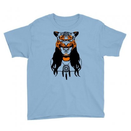 Tiger Woman Youth Tee Designed By Gematees