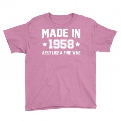 Made In 1958 Aged Like A Fine Wine Youth Tee | Artistshot