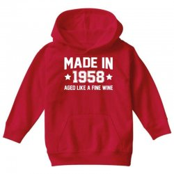 Made In 1958 Aged Like A Fine Wine Youth Hoodie | Artistshot