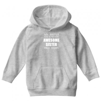 Awesome Sister Youth Hoodie Designed By Gematees