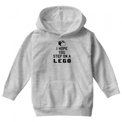 I Hope You Step On A Lego Youth Hoodie Designed By Gematees