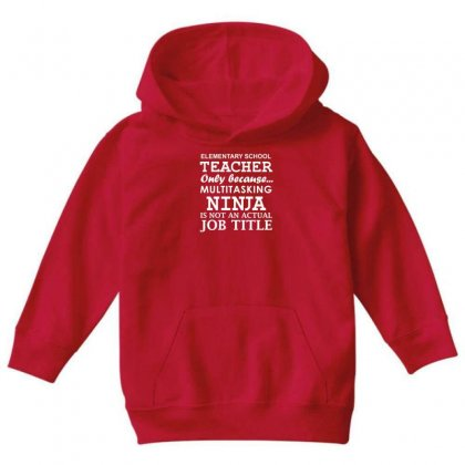 Elementary Teacher Youth Hoodie Designed By Gematees