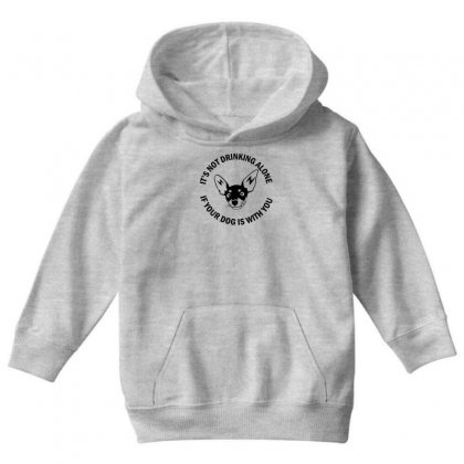 Funny Drinking Dog Youth Hoodie Designed By Gematees