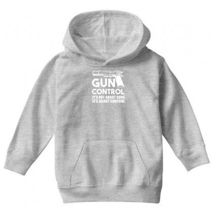 Gun Control Youth Hoodie Designed By Gematees
