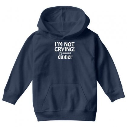 I'm Not Crying Youth Hoodie Designed By Gematees