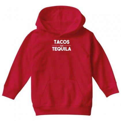Tacos And Tequila Youth Hoodie Designed By Gematees