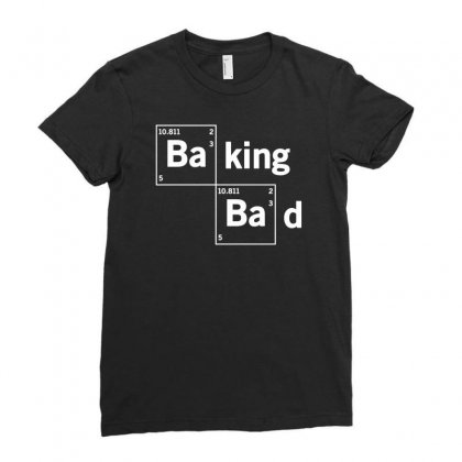 Baking Bad Funny Ladies Fitted T-shirt Designed By Mdk Art