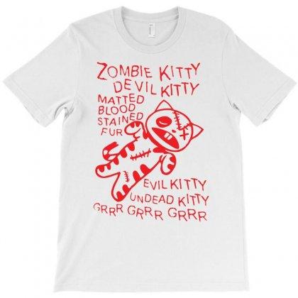 Black Zombie Soft Kitty Funny T-shirt Designed By Mdk Art