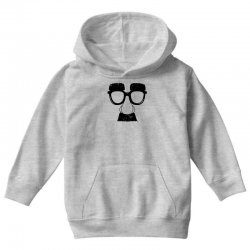 comedy fancy dress moustache funny Youth Hoodie | Artistshot