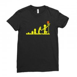 evolution lego basketball sports funny Ladies Fitted T-Shirt | Artistshot