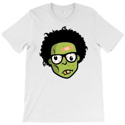 Geek Zombie Head Funny T-shirt Designed By Mdk Art