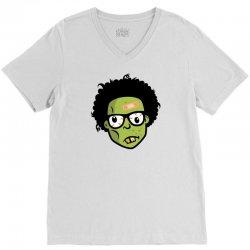 geek zombie head funny V-Neck Tee | Artistshot