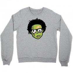 geek zombie head funny Crewneck Sweatshirt | Artistshot