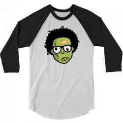geek zombie head funny 3/4 Sleeve Shirt | Artistshot