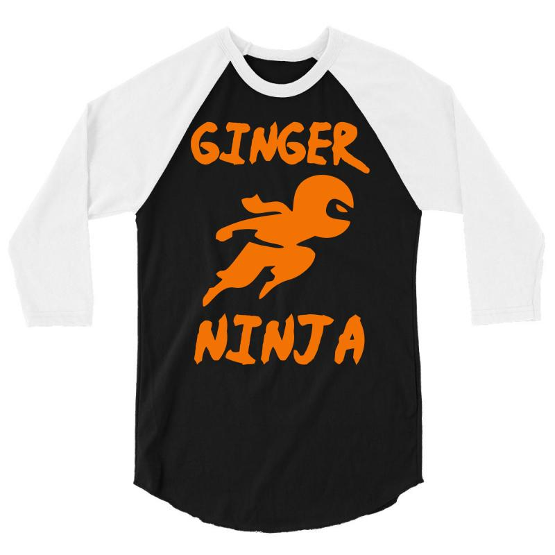 3b109a03 Custom Ginger Ninja Funny 3/4 Sleeve Shirt By Mdk Art - Artistshot