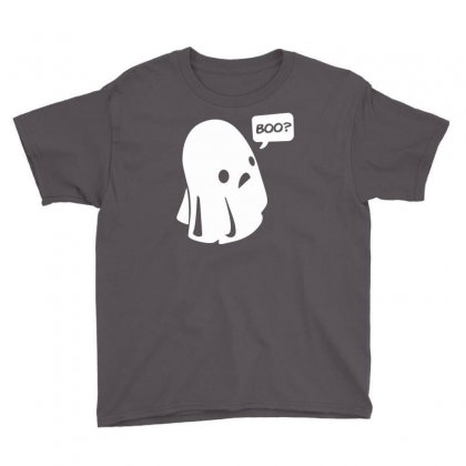 Halloween Boo Funny Youth Tee Designed By Mdk Art