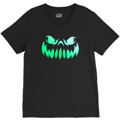 Halloween Funny V-neck Tee Designed By Mdk Art