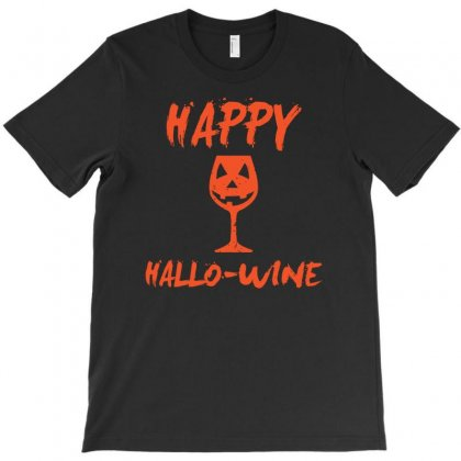 Halloween Happy Hallowine Funny T-shirt Designed By Mdk Art