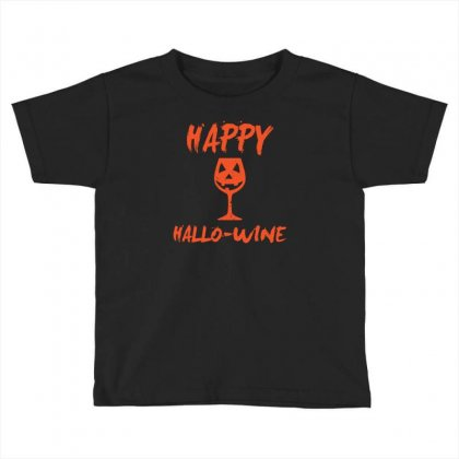 Halloween Happy Hallowine Funny Toddler T-shirt Designed By Mdk Art