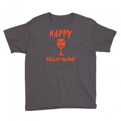 Halloween Happy Hallowine Funny Youth Tee Designed By Mdk Art