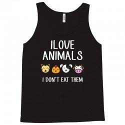 i love animals i dont eat them funny Tank Top | Artistshot