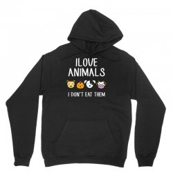 i love animals i dont eat them funny Unisex Hoodie | Artistshot