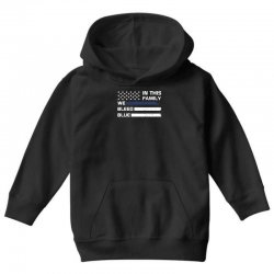 in this family we bleed blue funny Youth Hoodie | Artistshot