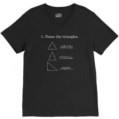 Name The Triangles V-neck Tee Designed By Mdk Art