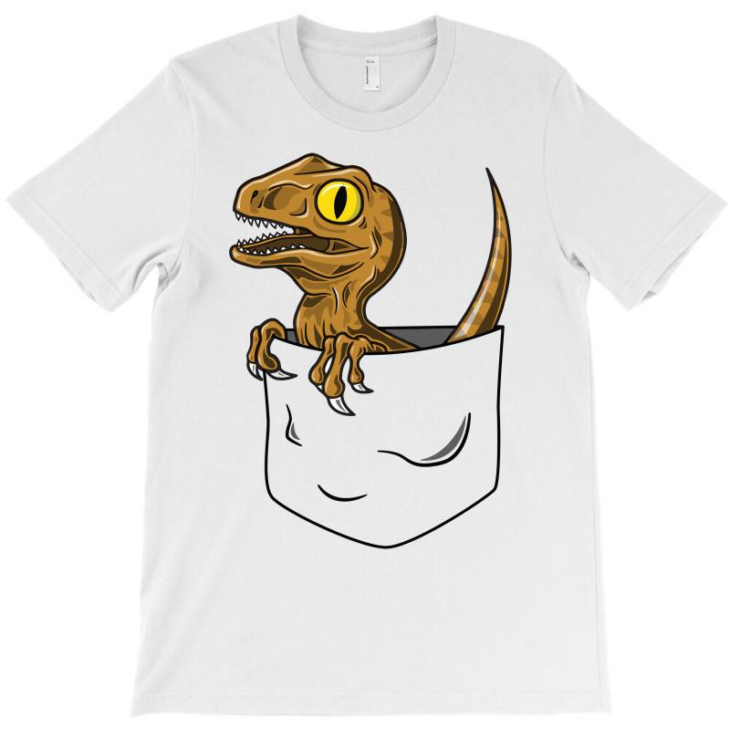 e26703363 Custom Pocket Raptor T-shirt By Mdk Art - Artistshot