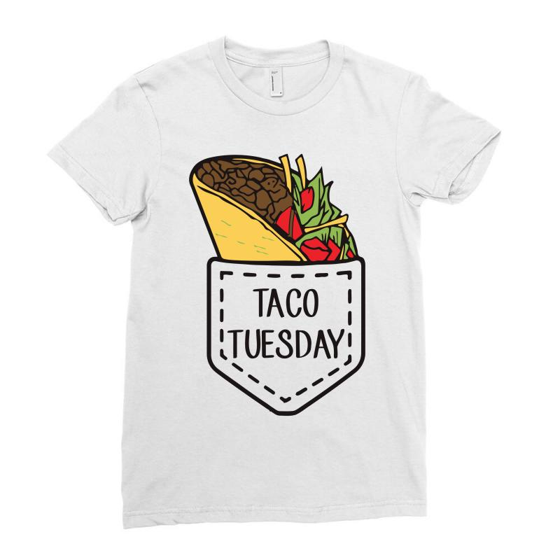522eefb113 Custom Taco Mexican Taco Tuesdays Pocket Funny Ladies Fitted T-shirt ...