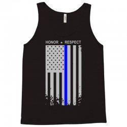 197edfa5e84 Custom Thin Blue Line American Flag Honor Respect Funny Women s V ...