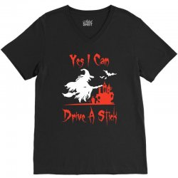 yes i can drive a stick funny V-Neck Tee   Artistshot