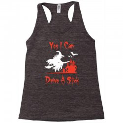 yes i can drive a stick funny Racerback Tank   Artistshot