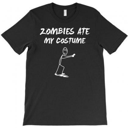 Zombie Ate My Custume Funny T-shirt Designed By Mdk Art