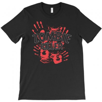 Zombie Killer T-shirt Designed By Mdk Art