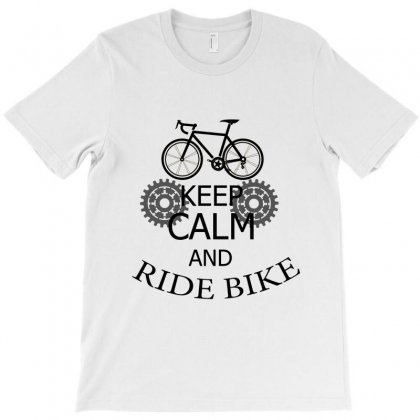 Keep Calm Ride A Bike T-shirt Designed By Sefaarioglu