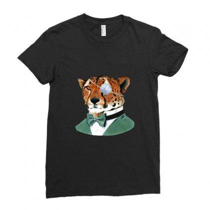Cheetah Ladies Fitted T-shirt Designed By Sefaarioglu