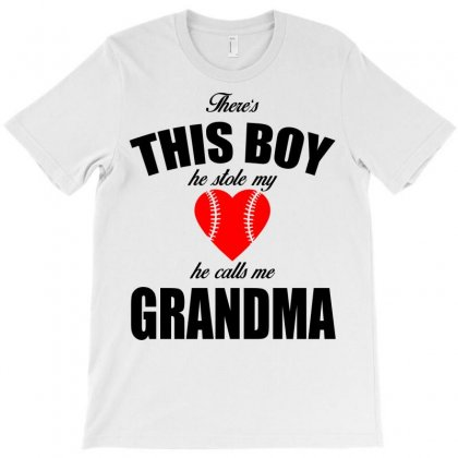 There's This Boy He Stole My Heart He Calls Me Grandma T-shirt Designed By Designbyz | Artistshot