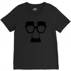 comedy fancy dress moustache funny V-Neck Tee   Artistshot