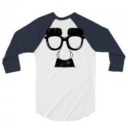 comedy fancy dress moustache funny 3/4 Sleeve Shirt   Artistshot