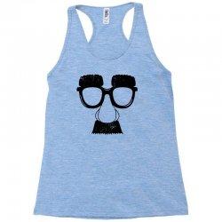 comedy fancy dress moustache funny Racerback Tank | Artistshot