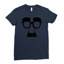 comedy fancy dress moustache funny Ladies Fitted T-Shirt | Artistshot