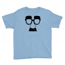 comedy fancy dress moustache funny Youth Tee | Artistshot