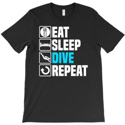 Eat Sleep Dive T-shirt Designed By Enjang